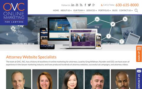 Screenshot of Team Page ovclawyermarketing.com - Attorney Website Experts | Online Marketing for Lawyers | OVC, INC. - captured March 14, 2018