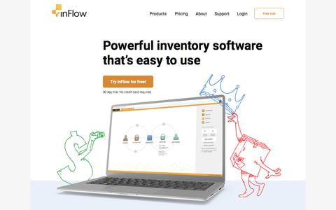 Screenshot of Home Page inflowinventory.com - Free Inventory Management Software - inFlow Inventory - captured July 30, 2017