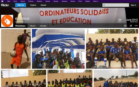 Screenshot of Flickr Page flickr.com - Flickr: e-nexus ONG's Photostream - captured Oct. 23, 2014