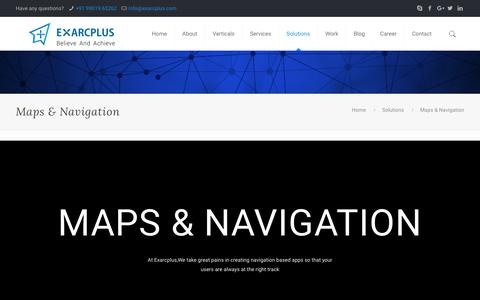 Maps & Navigation - Exarcplus Mobile Apps Pvt Ltd.