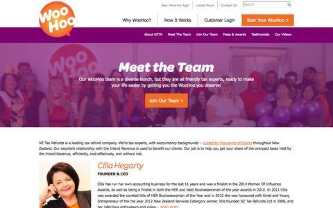 Screenshot of Team Page nztaxrefunds.co.nz - Meet The Team | NZ Tax Refunds - captured Nov. 3, 2014