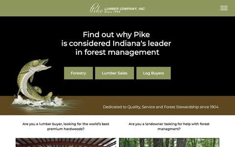 Screenshot of Home Page pikelumber.com - Home - Pike Lumber - captured Jan. 12, 2018