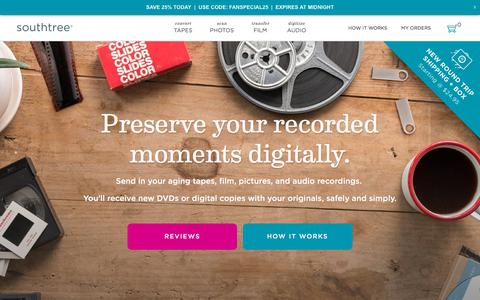 Screenshot of Pricing Page southtree.com - Southtree | Convert Home Movies to DVD - captured Sept. 14, 2018