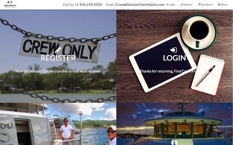 Screenshot of denisonyachtsales.com - Superyacht Crew Jobs And Placement - Crew Network - captured April 1, 2017