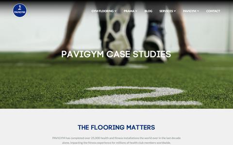 Screenshot of Case Studies Page pavigym.com - PAVIGYM CASE STUDIES - PAVIGYM GYM Flooring Solutions - captured Oct. 21, 2018