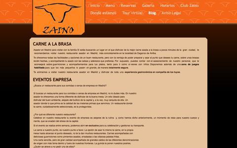 Screenshot of Blog zainodedaganzo.es - Blog - Zaino de Daganzo - captured Nov. 28, 2016