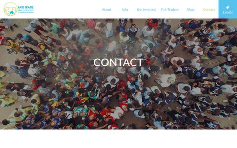 Screenshot of Contact Page fta.org.au - Contact - The Fair Trade Association - captured Oct. 10, 2018