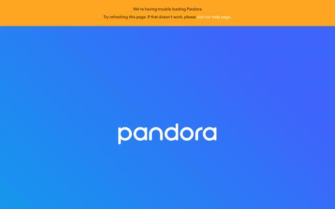 Screenshot of Login Page pandora.com - Pandora Internet Radio - Listen to Free Music You'll Love - captured April 2, 2018