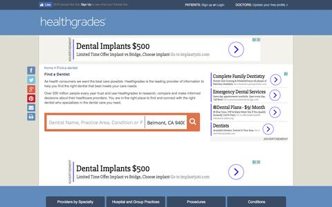 Find a Dentist | Find Dentists | Dentist Reviews - Healthgrades