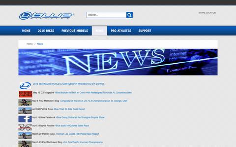 Screenshot of Press Page rideblue.com - News - captured Nov. 1, 2014