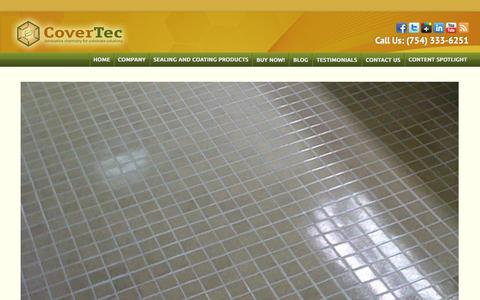 Screenshot of Home Page covertecproducts.com - High Quality Floor Sealing Products | Floor Coating Products - captured Jan. 23, 2015