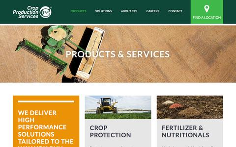 Screenshot of Products Page cpsagu.com - Agricultural Products | Crop Production Services - captured Feb. 13, 2016