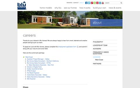 Screenshot of Jobs Page bluhomes.com - Careers - Blu Homes - captured Sept. 13, 2014