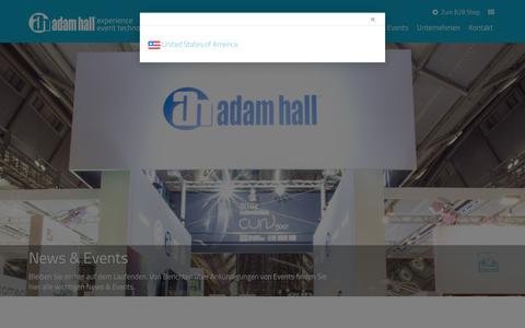 Screenshot of Press Page adamhall.com - News & Events | Adam Hall Group - captured Nov. 20, 2016