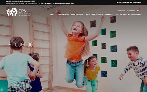Screenshot of Home Page psicomotricidad.com - EIPS - Escuela Internacional de Psicomotricidad - captured July 10, 2017