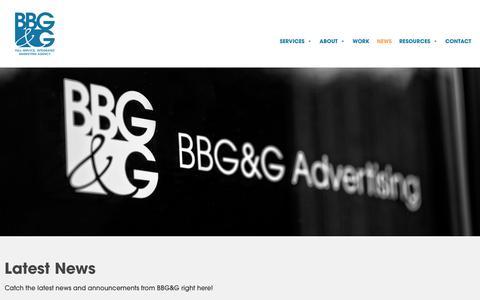 Screenshot of Press Page bbggadv.com - BBG&G: News - captured Nov. 25, 2019