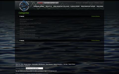 Screenshot of Site Map Page atomicbassjerseys.com - Atomic Bass Jerseys - captured Sept. 30, 2014