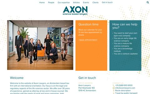 Screenshot of Home Page axonlawyers.com - Axon Lawyers - captured Dec. 28, 2015