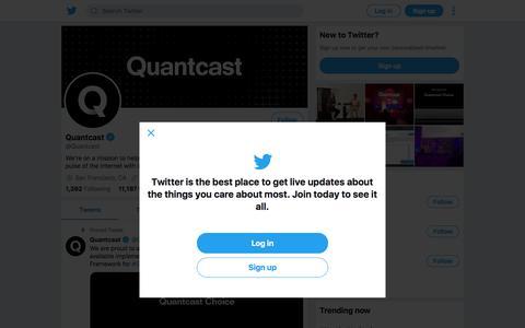Tweets by Quantcast (@Quantcast) – Twitter