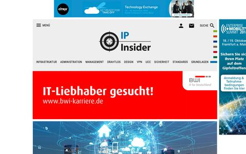 Screenshot of Home Page ip-insider.de - IP-Insider - Fachportal für Netzwerktechnik, Routing & Switching, SDN, IP-Kommunikation und UCC - captured Sept. 24, 2018