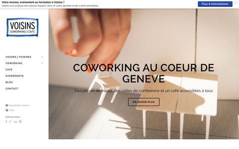 Screenshot of Home Page voisins.ch - Voisins - Coworking Café au coeur de Genève - captured Jan. 11, 2016