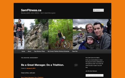 Screenshot of Team Page 5amfitness.ca - management | 5amFitness.ca - captured Oct. 9, 2014