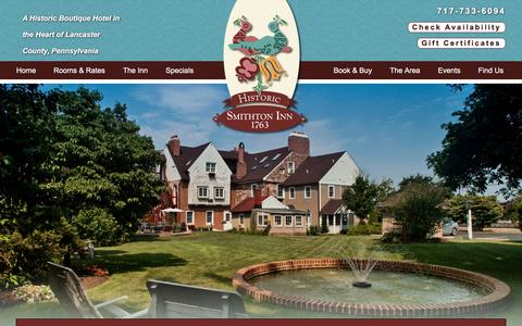 Screenshot of Contact Page Maps & Directions Page historicsmithtoninn.com - Directions to Our Boutique Hotel Lodging in Ephrata PA - captured July 15, 2016