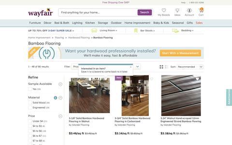 Screenshot of wayfair.com - Bamboo Wood Flooring | Wayfair - captured March 19, 2016