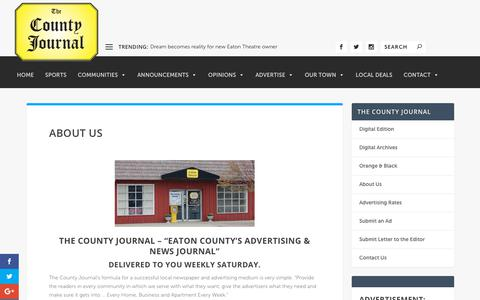 Screenshot of About Page county-journal.com - About Us | The County Journal - captured Oct. 19, 2018