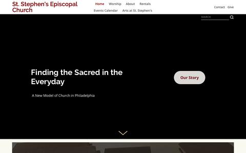 Screenshot of Home Page ststephensphl.org - St. Stephen's Episcopal Church - captured Oct. 31, 2018