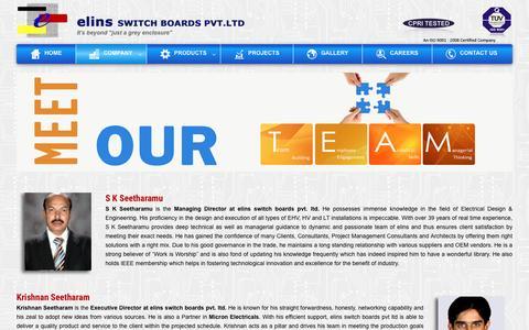 Screenshot of Team Page elinsswitchboards.com - Team - captured Jan. 27, 2016
