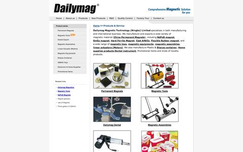 Screenshot of Products Page cndailymag.com - Permanent magnets,magnetic tools,magnetic assemblies,sharps containers,dental instruments -- Dailymag - captured Oct. 5, 2014