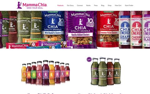 Screenshot of Products Page mammachia.com - Chia Seed Products ­- by Mamma Chia - captured Oct. 14, 2015