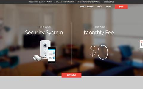 Screenshot of Home Page getpiper.com - All-in-One Wireless Security System | Piper - captured Nov. 20, 2015