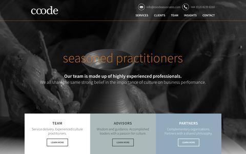 Screenshot of Team Page coodeassociates.com - Team | Coode Associates - captured July 21, 2018