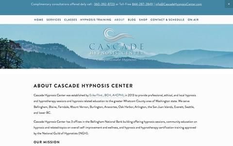 Screenshot of About Page cascadehypnosiscenter.com - About Cascade Hypnosis Center — Cascade Hypnosis Center - captured May 15, 2017