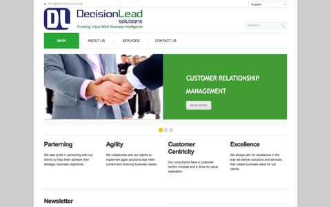 Screenshot of Home Page decisionlead.com - Decisionlead - captured Oct. 5, 2014
