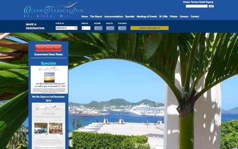 Screenshot of Home Page oceanterraceinn.com - Ocean Terrace Inn | St. Kitts Hotel | St. Kitts Resort - captured Sept. 30, 2014