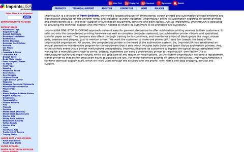 Screenshot of About Page imprintsusa.com - Welcome to ImprintsUSA - captured Aug. 5, 2016