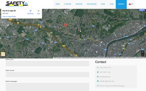 Screenshot of Contact Page safetyiq.eu - Safety IQ Contact » Safety IQ - captured Sept. 30, 2014