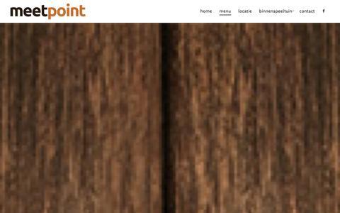 Screenshot of Menu Page meet-point.be - Menu - meetpoint - captured Jan. 15, 2016