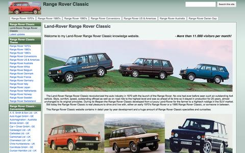 Screenshot of Home Page range-rover-classic.com - Range Rover Classic - captured June 11, 2016