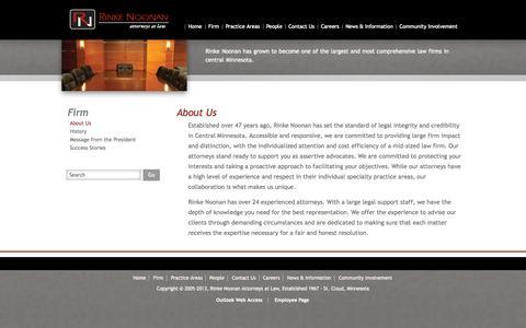 Screenshot of About Page rinkenoonan.com - About Us - Rinke Noonan - captured Oct. 6, 2014
