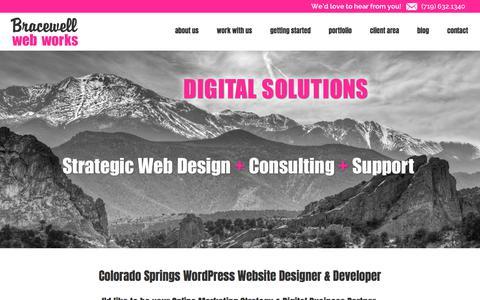 Screenshot of Home Page bracewellwebworks.com - Colorado Springs Web Designer, Colorado Springs Web Design, Colorado Springs Website Design, Wordpress - captured June 2, 2017