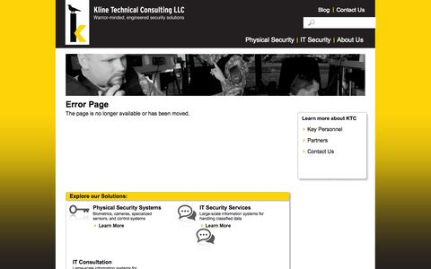 Screenshot of Privacy Page klinenm.com - Contact Us | Kline Technical Consulting - captured Oct. 6, 2014