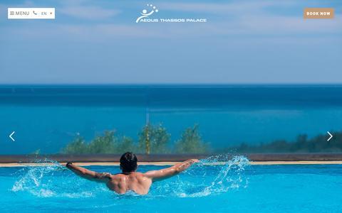 Screenshot of Home Page aeolis-thassos.gr - Aeolis Thassos Palace 4 Star Hotel Thassos   Hotels Thassos Greece - captured Oct. 2, 2018