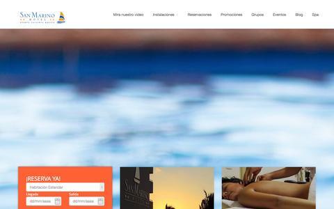 Screenshot of Home Page hotelsanmarino.com - Hotel San Marino, Puerto Vallarta, Jalisco, México - captured Sept. 23, 2014