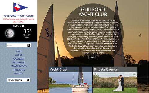 Screenshot of Home Page gyc.com - Guilford Yacht Club | Sailing and Events - captured Feb. 2, 2016