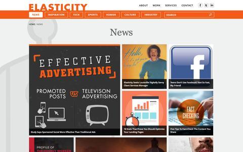 Screenshot of Press Page goelastic.com - News | Elasticity - captured Dec. 17, 2015