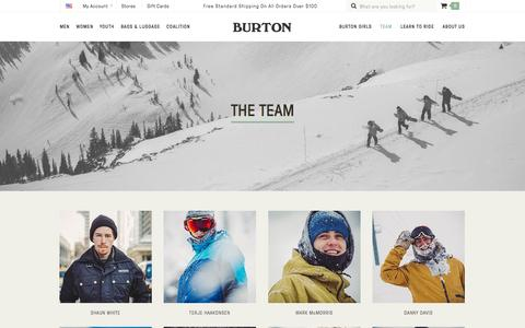 Screenshot of Team Page burton.com - Team | Burton Snowboards - captured Oct. 2, 2015